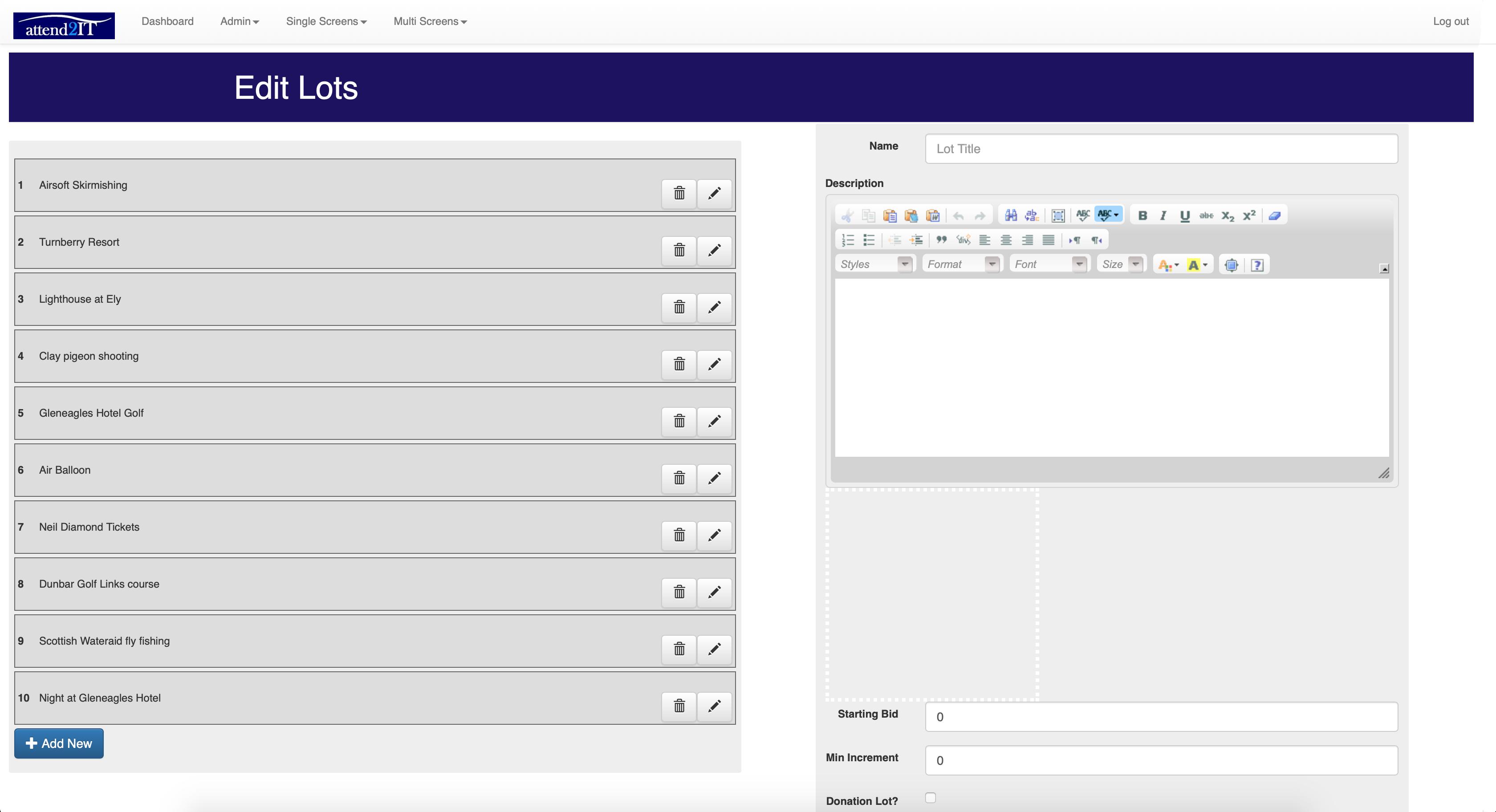 EditLotsScreenshot